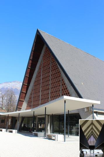 CURIOX, centre d'Art et de rencontres d'Ugine / Intervenir sur l'architecture du 20 ème
